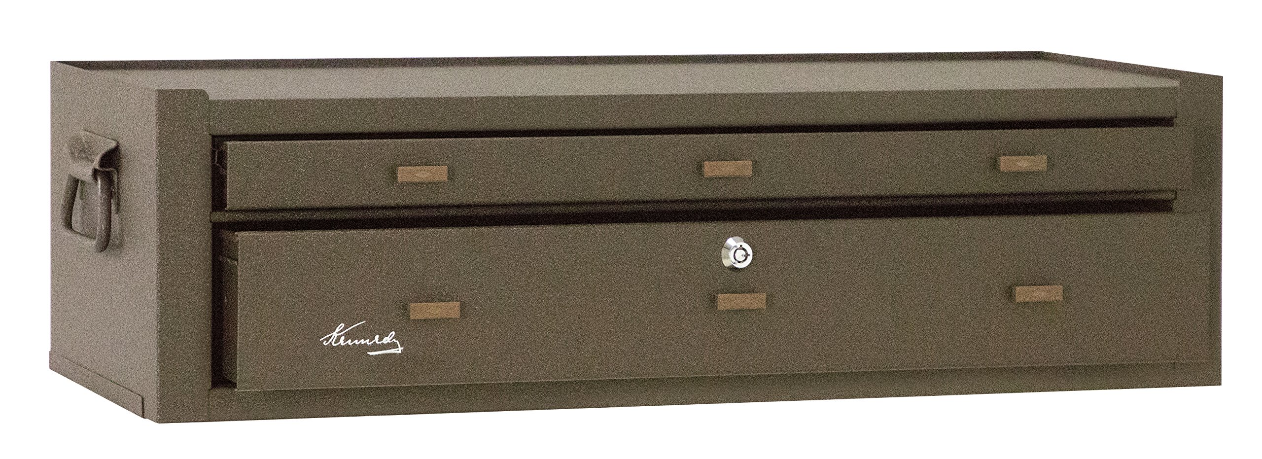 Kennedy Manufacturing MC28B 2-Drawer Machinist's Steel Tool Storage Chest Base with Friction Slides, 28'', Brown Wrinkle