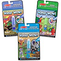 Melissa & Doug Water Wow Bundle-Dinosaur, Adventure & Animals Activity Books