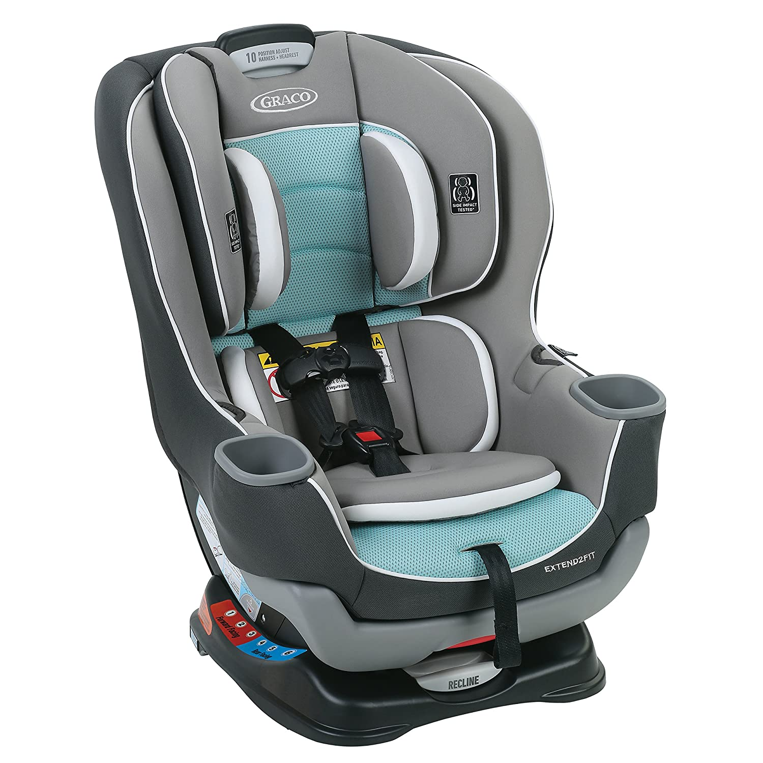 Graco Extend2Fit Convertible Car Seat | Ride Rear Facing Longer with Extend2Fit, Spire