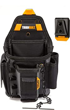 TOUGHBUILT Large Technician 10-Pocket Pouch Tool Organizer Electrician Belt Clip