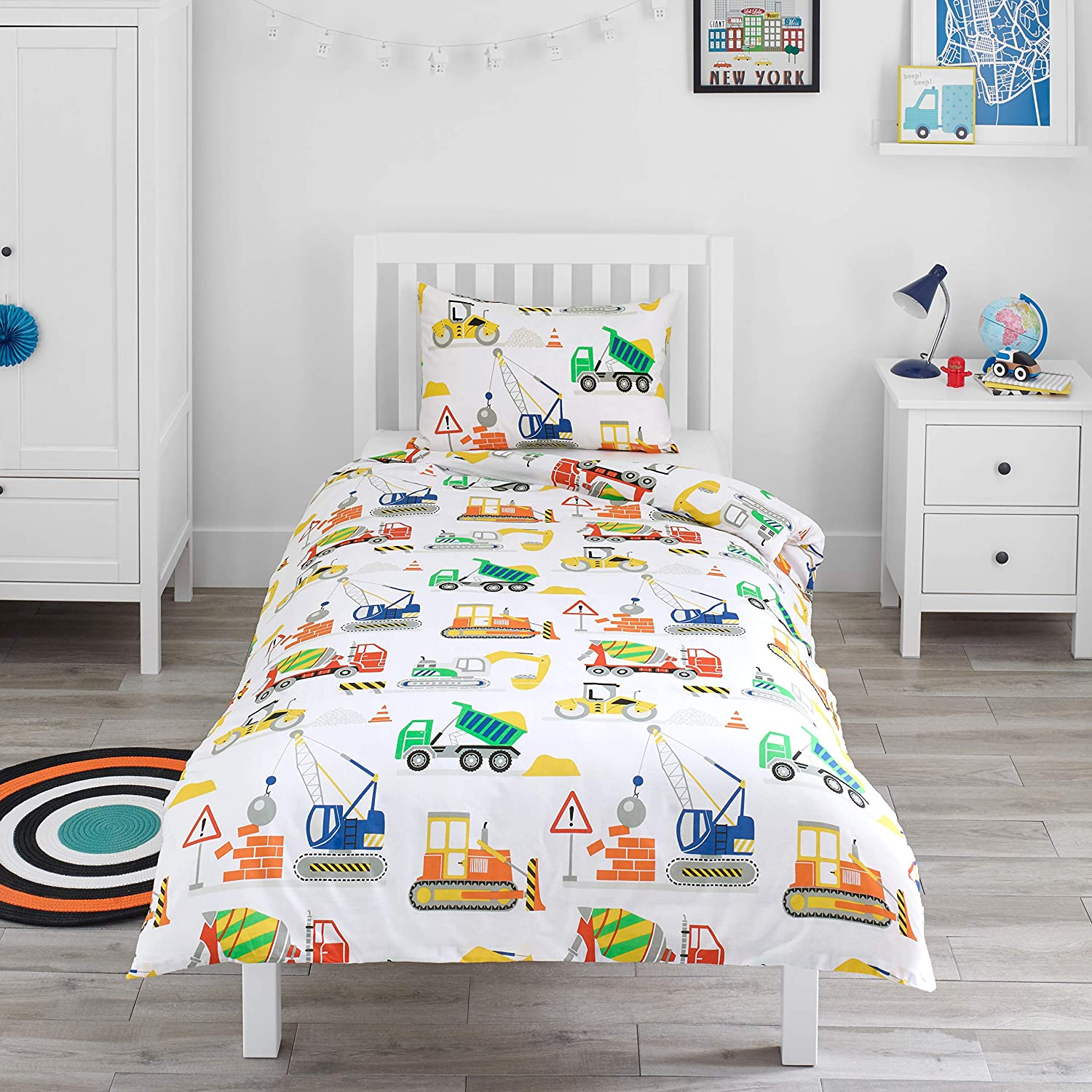 Cars Cotbed Duvet Cover and Pillow Set