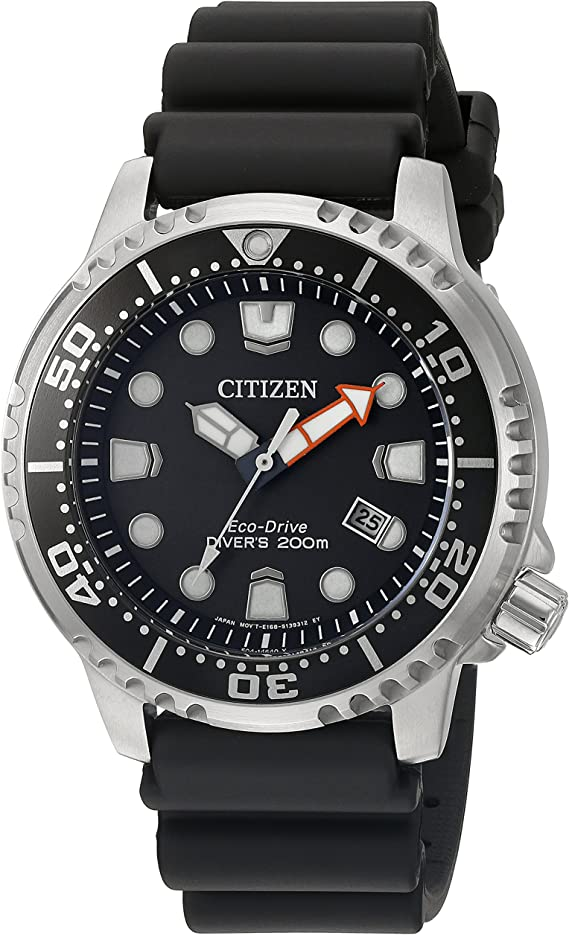 Citizen Men's Promaster Diver Stainless Steel Eco-Drive Diving Watch with Polyurethane Strap