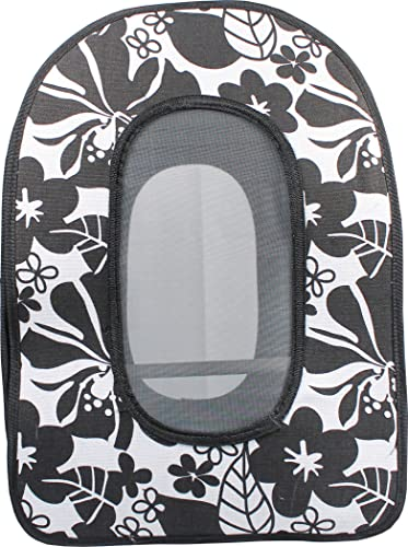 A E Cage Company 001376 Happy Beaks Soft Sided Travel Bird Carrier Black, 14.5X10.5X7 in