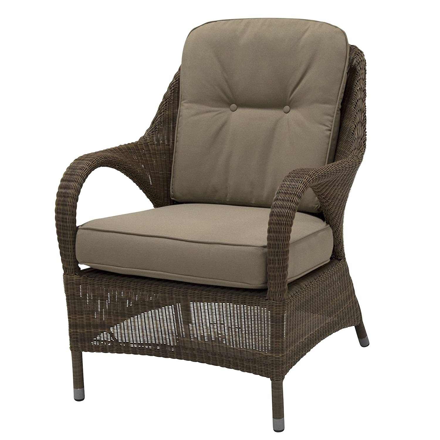 4Seasons Outdoor Sussex living Sessel Polyloom taupe Loungesessel inkl Kissen
