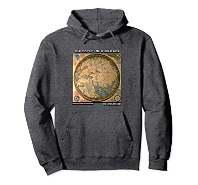 Amazon old map of the world by fra mauro 1459 hoodie clothing unisex old map of the world by fra mauro 1459 hoodie 2xl dark heather gumiabroncs Images
