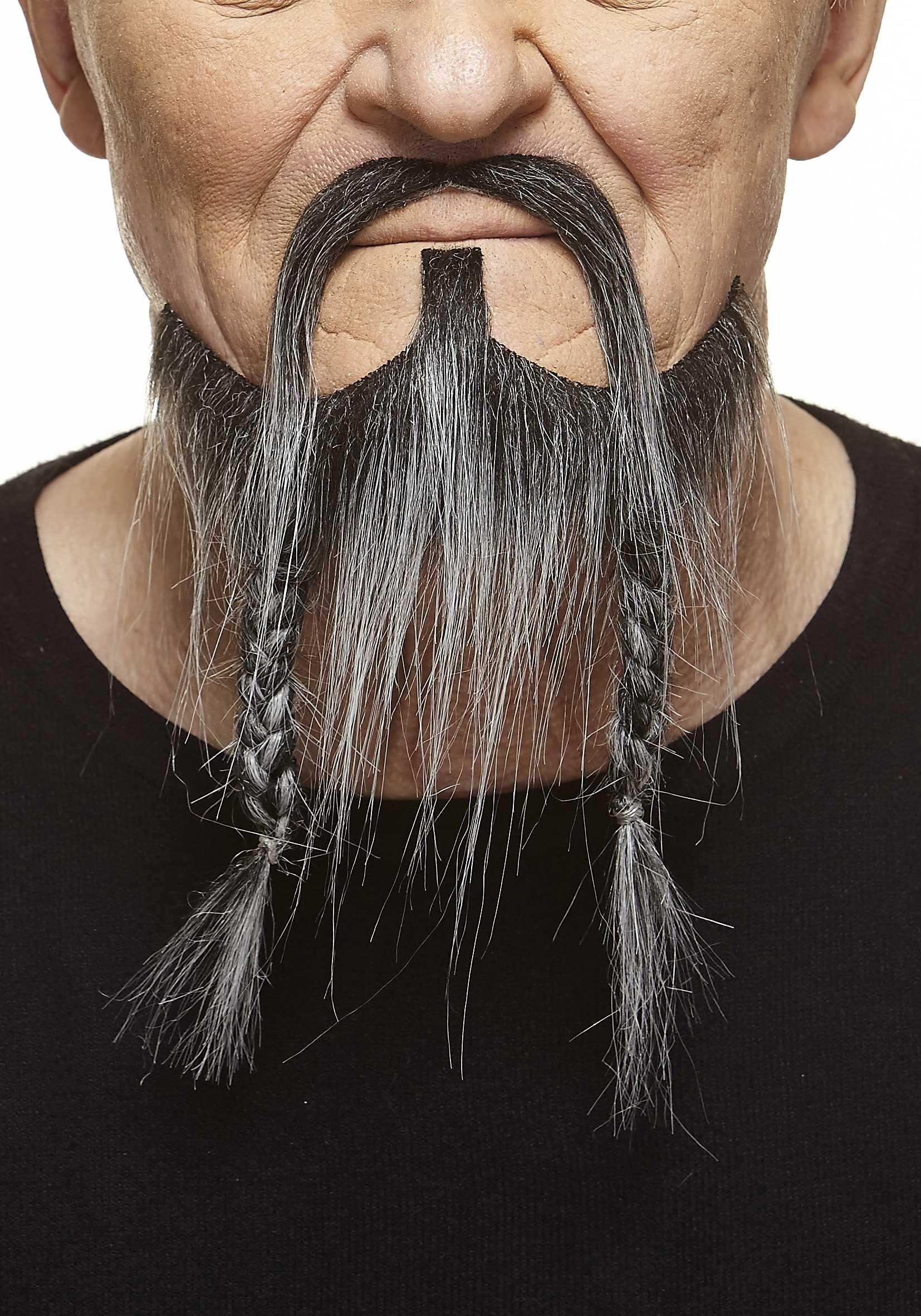 Mustaches Braided, Pirate Fake Beard, Salt and Pepper
