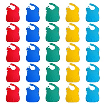 Amazon.com  Toppy Toddler Wholesale Baby Bibs in Bulk 25-pack  Baby e5b26718d
