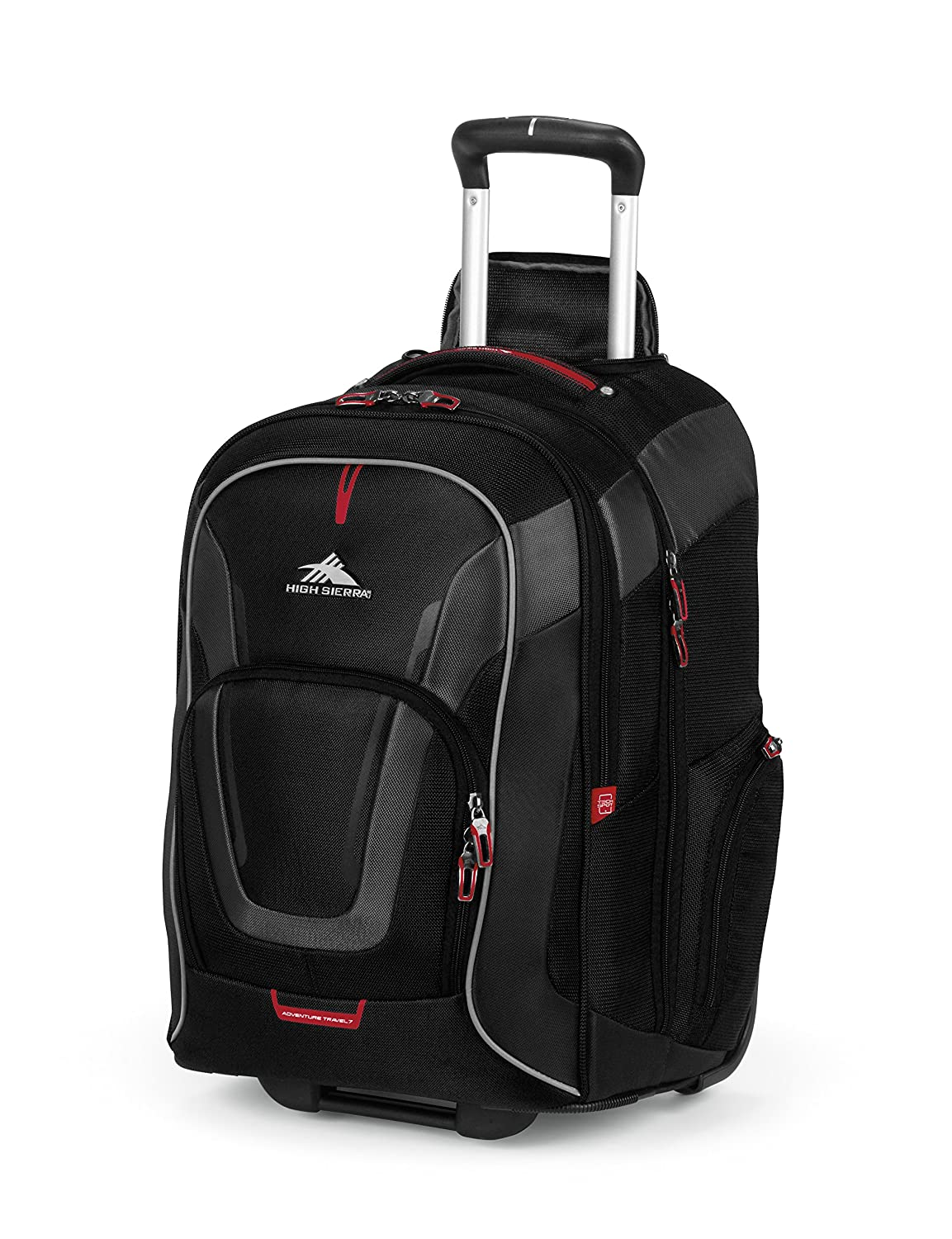 Amazon.com: High Sierra AT7 Outdoor Wheeled Backpack, Black ...