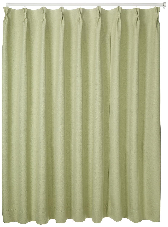 ブリーズ 1級遮光防炎遮熱カーテン 2枚入 巾150cmX丈178cm グリーン B00B16Z110 150X178|グリーン グリーン 150X178