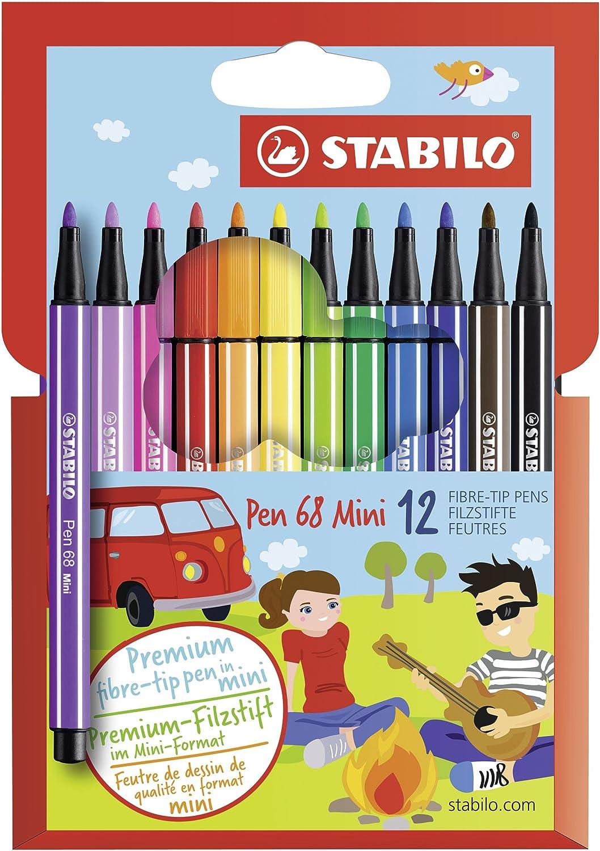 STABILO Pen 68 Mini Pennarelli - Astuccio da 12 016119