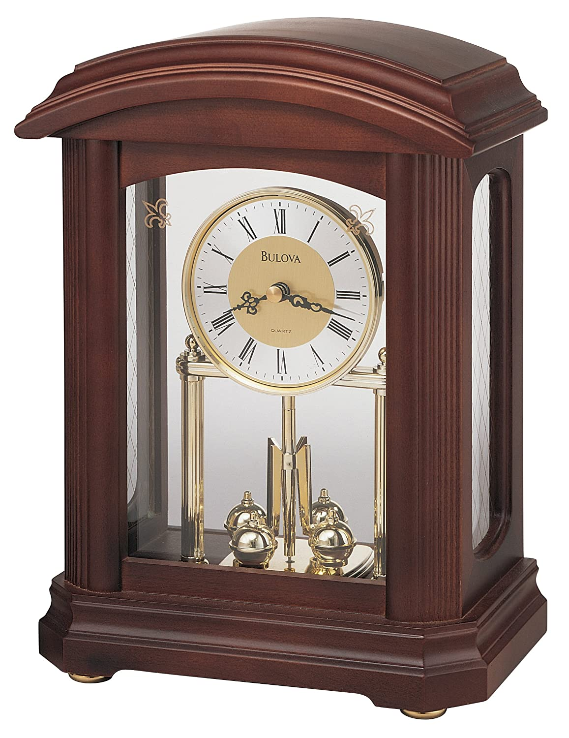 Bulova B1848 Nordale Clock, Walnut Finish Bulova (Clocks)