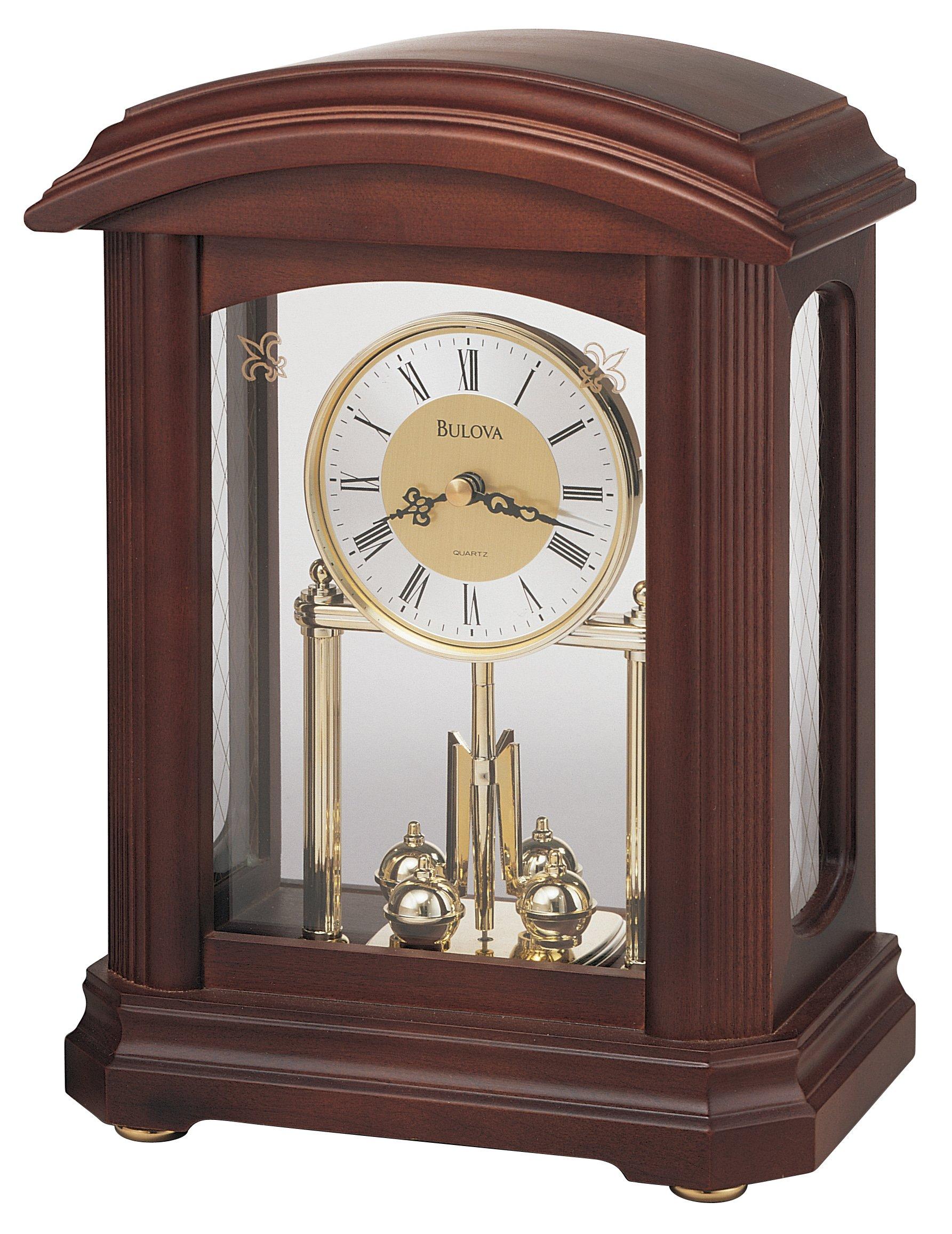 Bulova B1848 Nordale Clock, Walnut Finish by Bulova