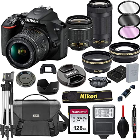 Amazon.com: Nikon D3500 Cámara DSLR con lentes VR de 0.709 ...