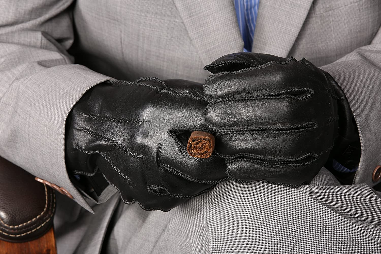 MoDA Mr London Mens Genuine Leather Gloves Warm Wool Lining Driving Gloves