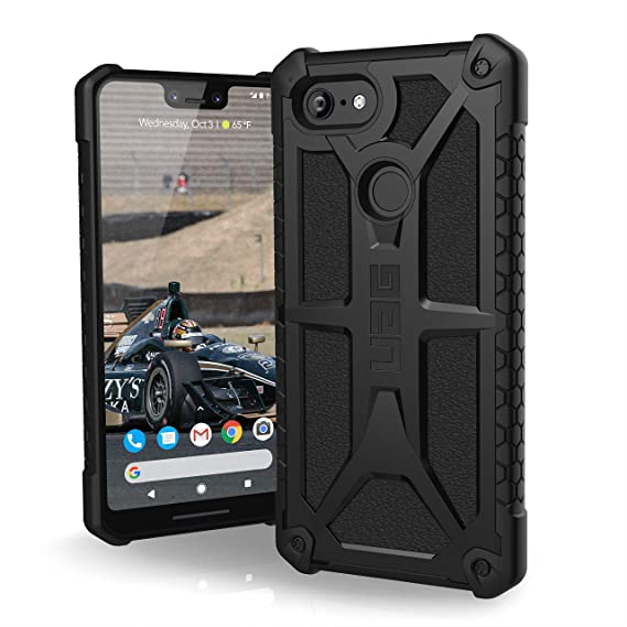 buy online df53e 719be UAG Google Pixel 3 XL [6.3-inch screen] Monarch Feather-Light Rugged  [Black] Military Drop Tested Case