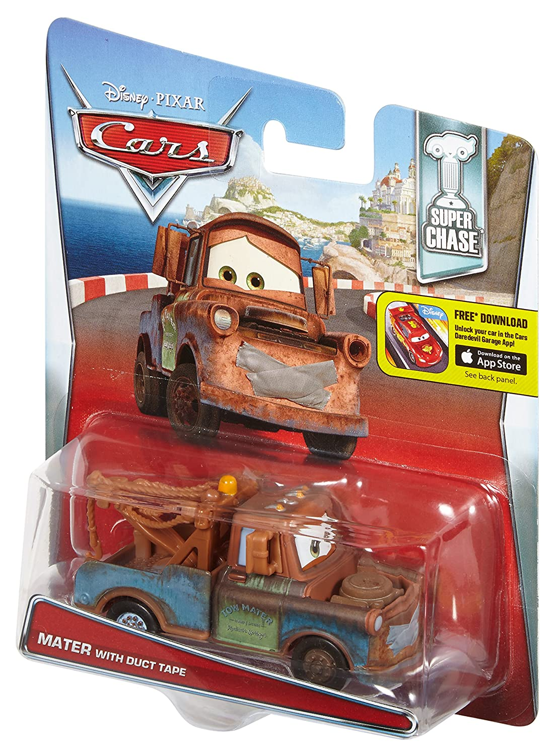 Amazon Disney Pixar Cars Super Chase Mater With Duct Tape 155 Scale Diecast Vehicle Toys Games