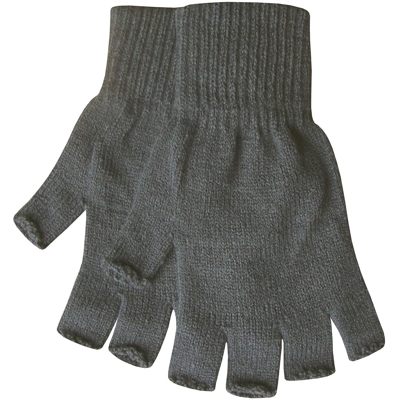 TeddyT's - Guanti - Basic - Uomo Guanti mezze dita caldi termici da uomo Grey Taglia unica HOTFingerlessMensGREY