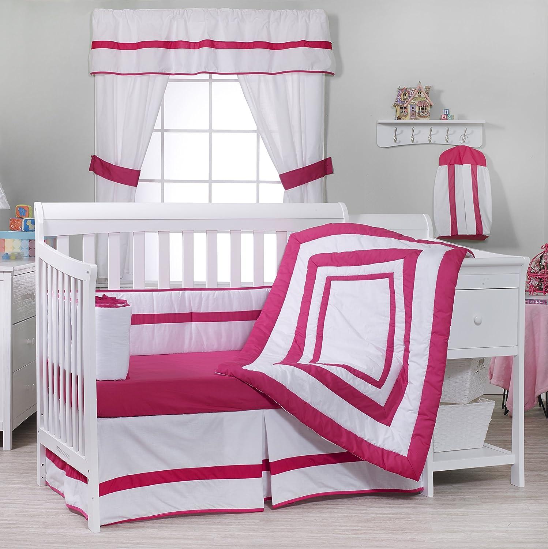 Red BabyDoll Bedding Modern Hotel Style Crib Bedding Set