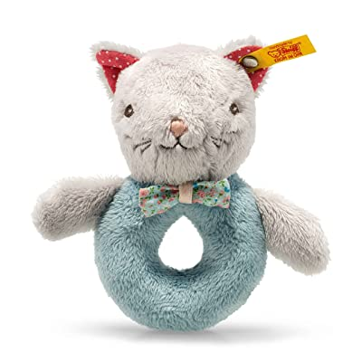 Steiff Blossom Babies Cat Grip Toy with Rattle: Toys & Games
