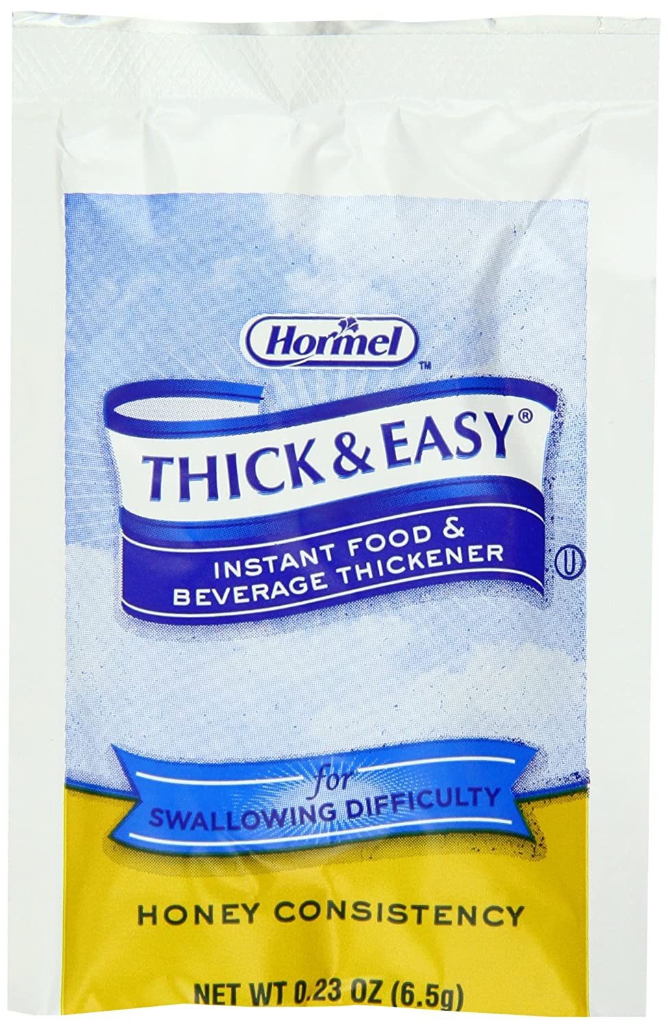Hormel Thick & Easy, Instant Food Thickener, Honey Consistency, 0.23 Ounce (Pack of 100)