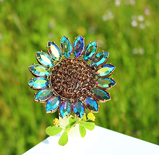Amazon com: The Perfect sun flower antiqued gold tone green