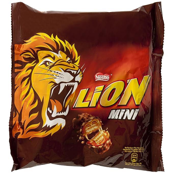Lion Galleta rellena con caramelo (34%) y cereales (12,4%
