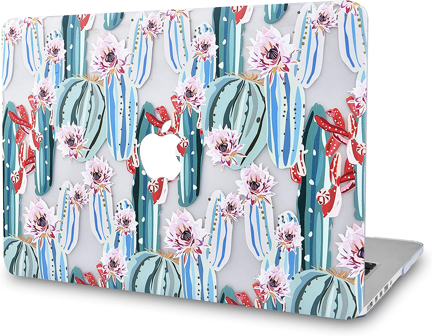 """KECC Laptop Case for MacBook Air 13"""" Retina (2020/2019/2018, Touch ID) Plastic Case Hard Shell Cover A2179/A1932 (Cactus 1)"""