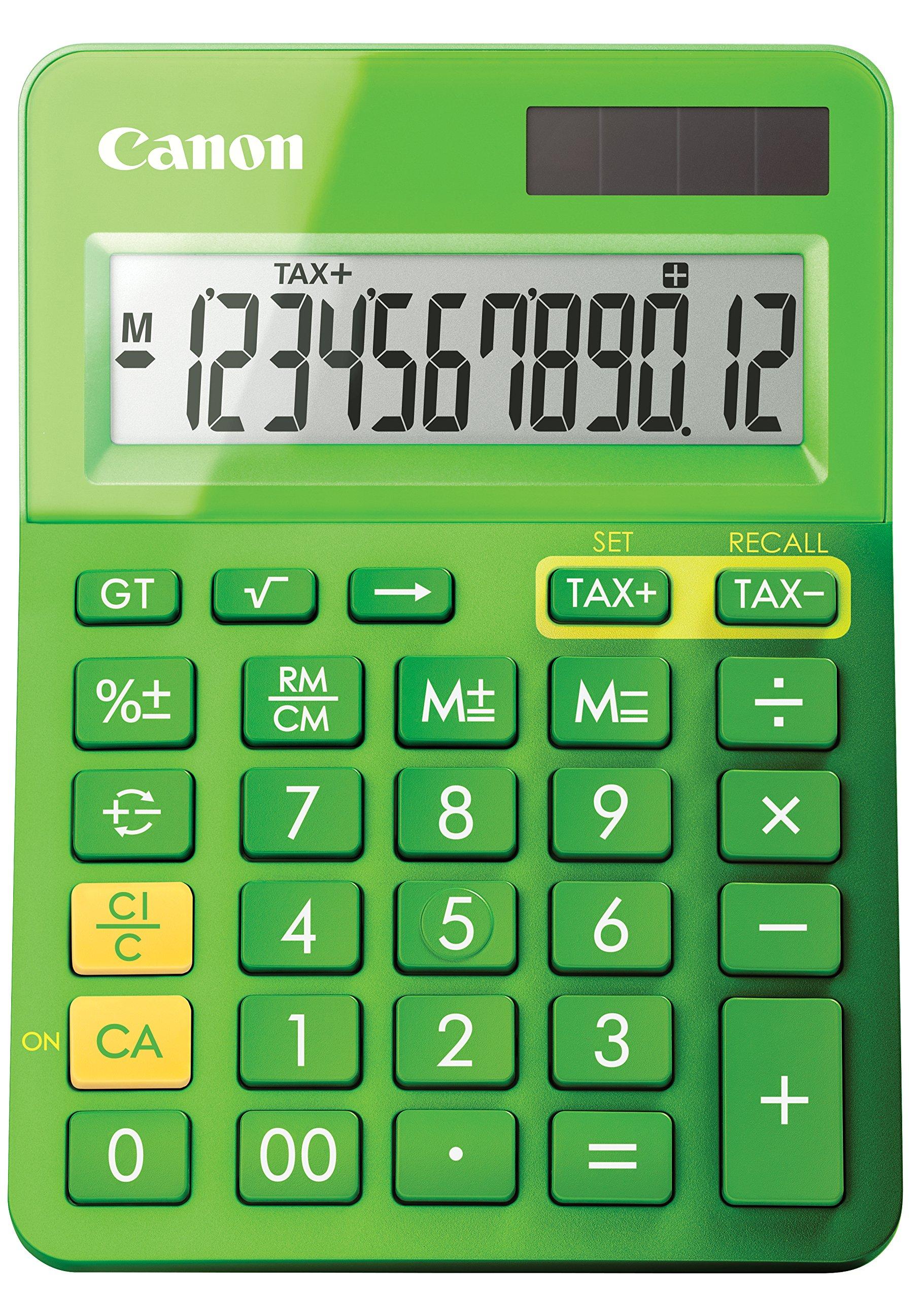 Canon Office Products 9490B017 LS-123K Desktop Basic Calculator, Metallic Green