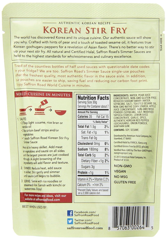 Amazon.com : Saffron Road Simmer Sauce, Pad Thai, 7 Oz, (Pack of 8 ...