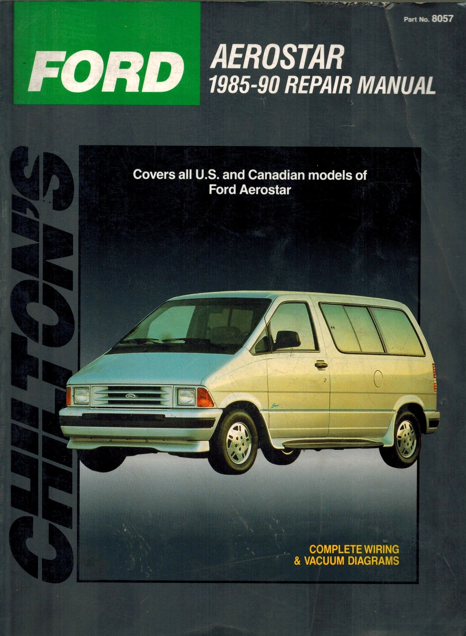 Ford Aerostar 1985 1990 Repair Manual Chilton Books Engine Diagram