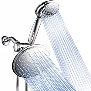 DreamSpa 3-way 8-Setting Rainfall Shower Head and Handheld Shower Combo (Chrome). Use Luxury 7-inch Rain Showerhead or 7-Function Hand Shower for Ultimate Spa Experience!