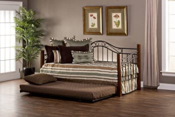 hillsdale 1159dblhtr matson daybed with suspension deck and trundle h x 82u0026quot