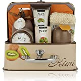 Deluxe Bath Spa Gift Set by Rachelle Parker – Bath and Body Spa Treatments with Kiwi Extract – Perfect Bath Gift Set for Women – All-Natural At-Home Spa Treatment Set
