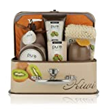 Amazon Price History for:Deluxe Bath Spa Gift Set by Rachelle Parker – Bath and Body Spa Treatments with Kiwi Extract – Perfect Bath Gift Set for Women – All-Natural At-Home Spa Treatment Set