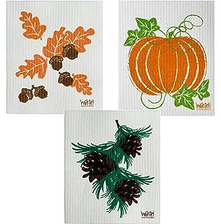 Amazon.com: Juego de 3 paños de Acción de Gracias (uno de ...