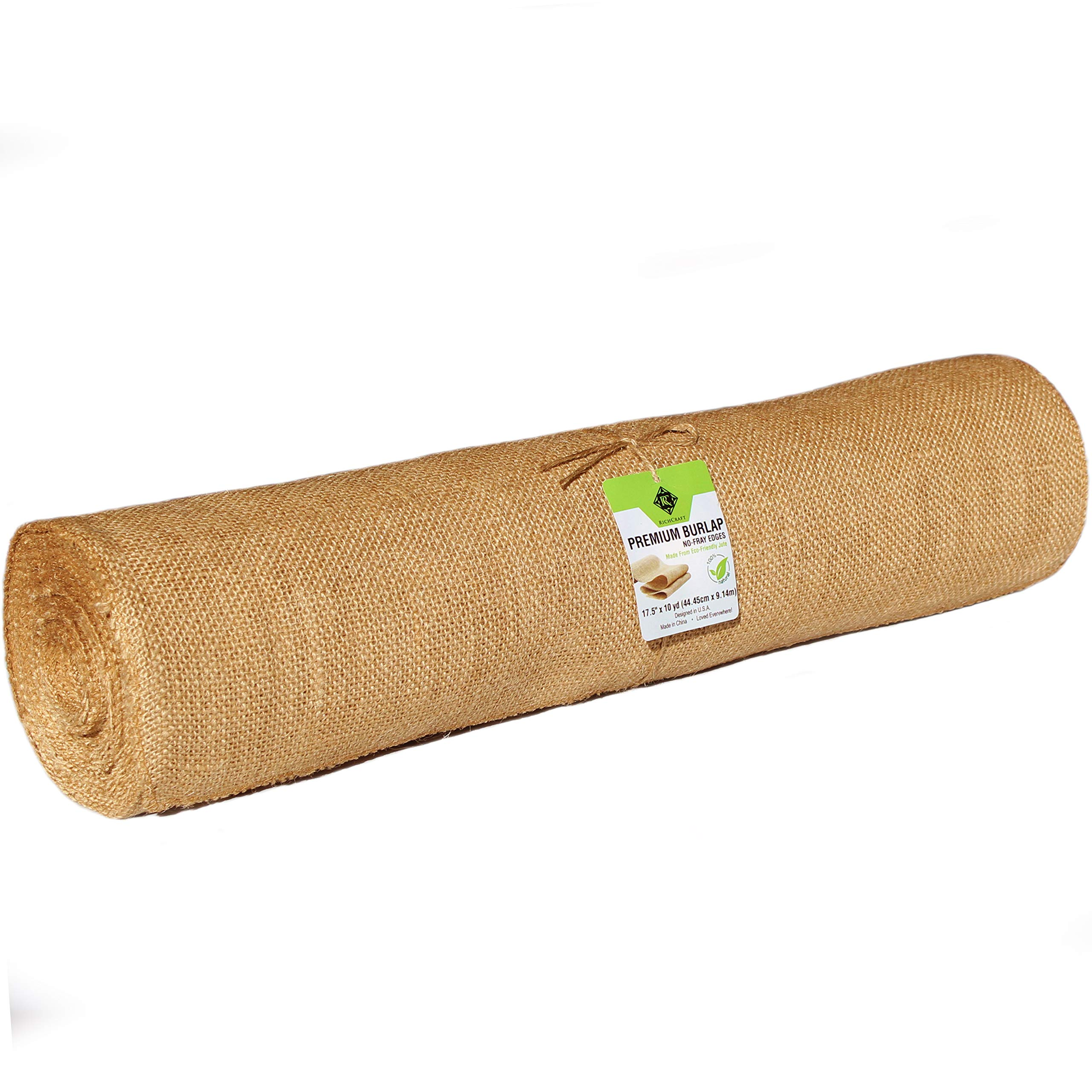 RichCraft Wide 18'' Burlap Table Runner Roll, NO-FRAY NO-Mess ~ 18'' Wide x 10 Yards Long Table Runner Fabric w/Finished Edges. Perfect for Weddings, Placemat, Crafts. Decorate Without The Mess! by RichCraft (Image #4)
