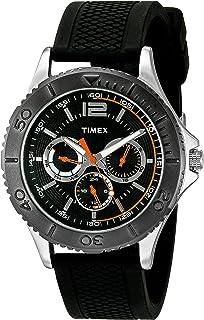 Timex Mens TW2P87500 Taft Street Multifunction Black Silicone Strap Watch