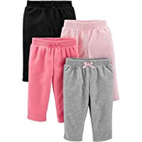 Girls' 4-Pack Fleece Pants