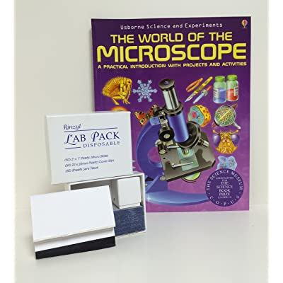 "Deluxe Lab Pack: Rinzyl Plastic Slides, Cover Slips and Lens Paper, with""The World of The Microscope"" Book: Industrial & Scientific"