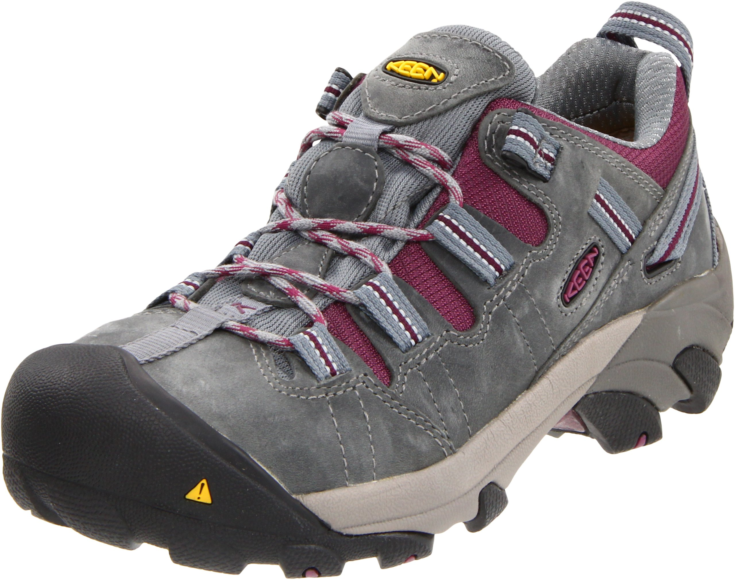 KEEN Utility Women's Detroit Low Steel Toe Work Shoe,Monument/Amaranth,9 W US