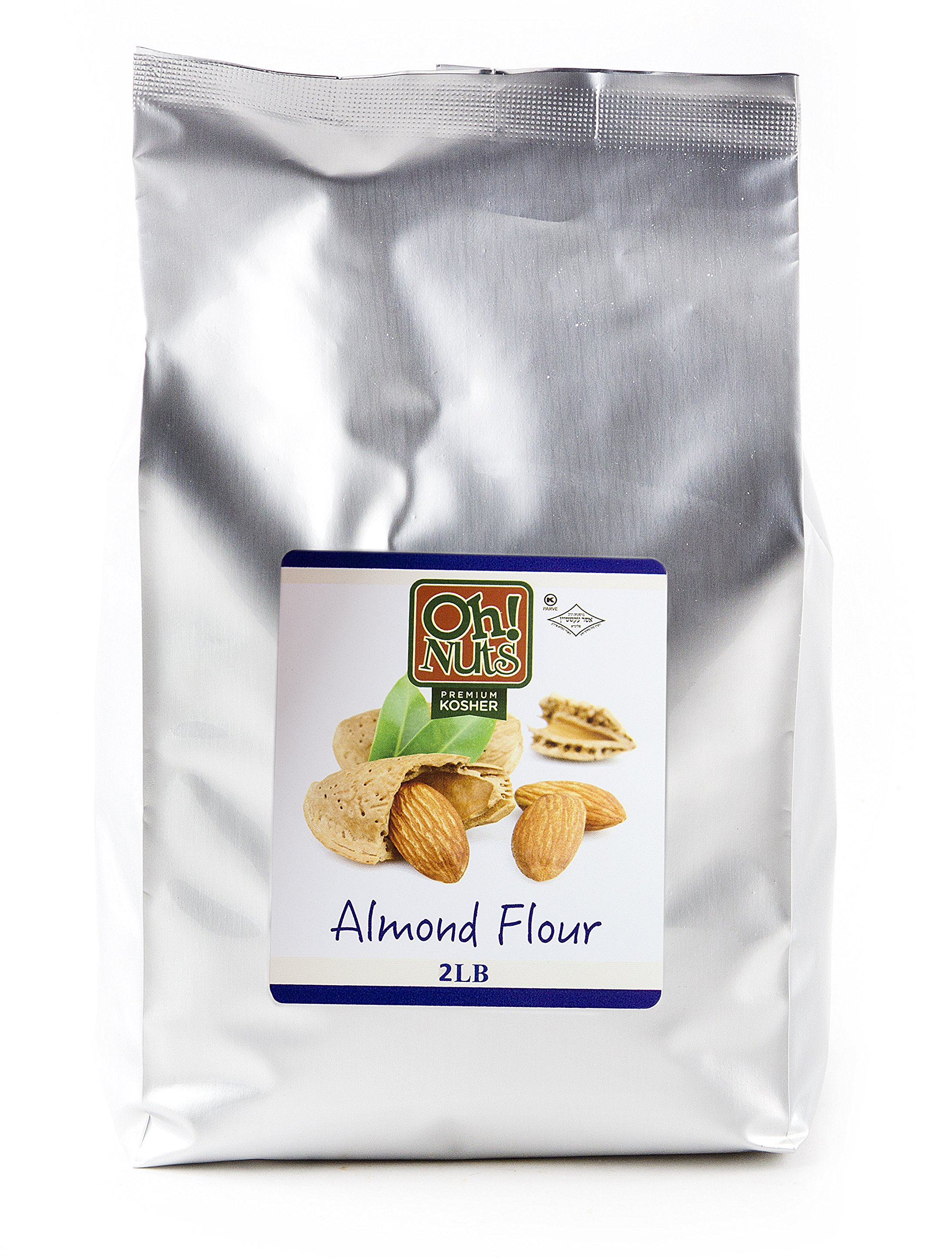 Almond Flour, UNBLANCHED Almonds Healthy Meal, Extra Fine Ground Almonds - Oh! Nuts (2 LB Bag Natural Whole Almond Flour)