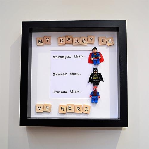 My Daddy Is My Hero Box Frame Amazoncouk Handmade