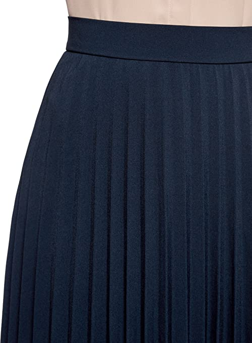 oodji Collection Mujer Falda Larga, Azul, ES 46 / XXL: Amazon.es ...