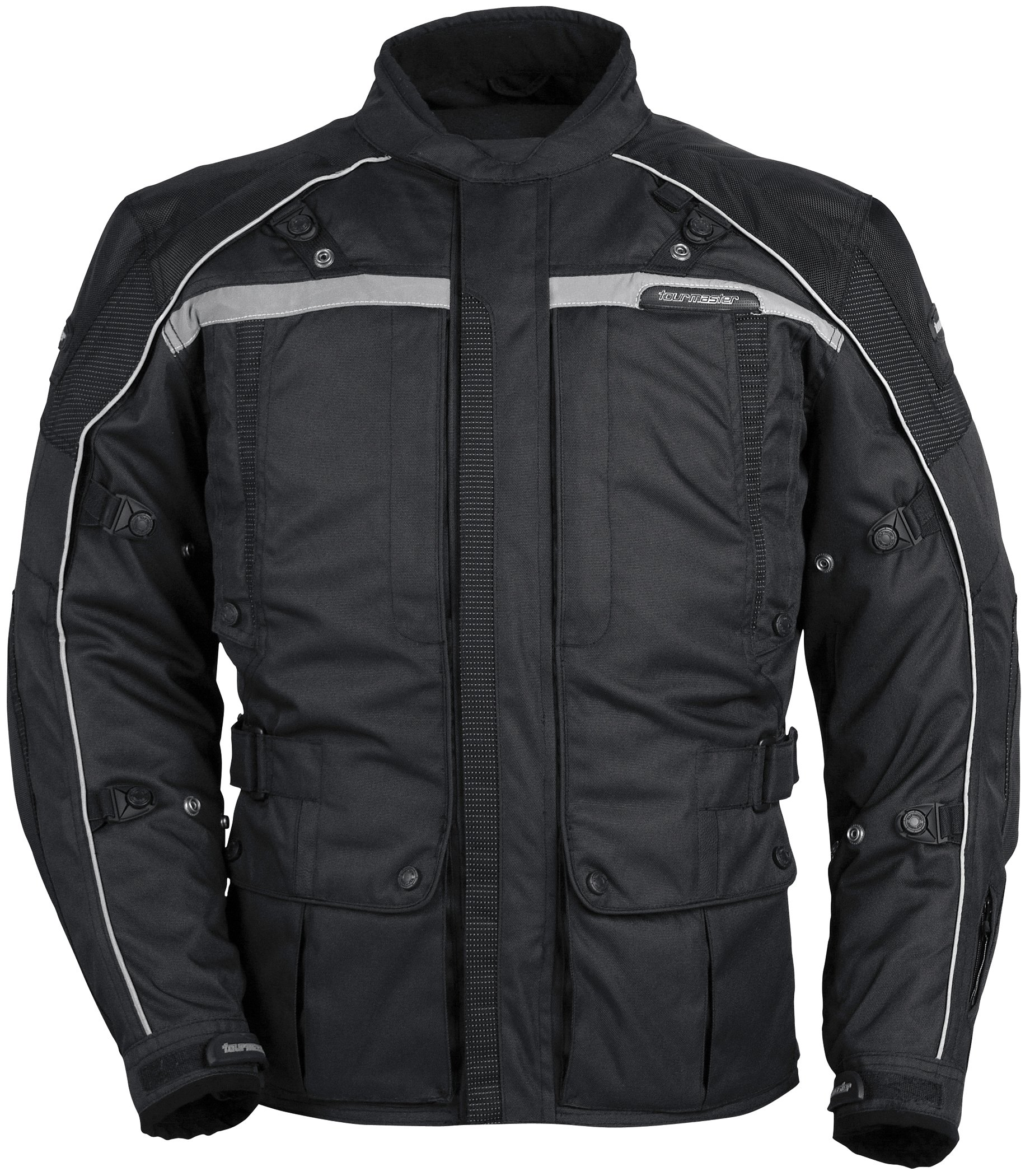 TourMaster Transition Series 3 Men's 3/4 Outer Shell Textile Motorcycle Jacket (Black, XX-Large)