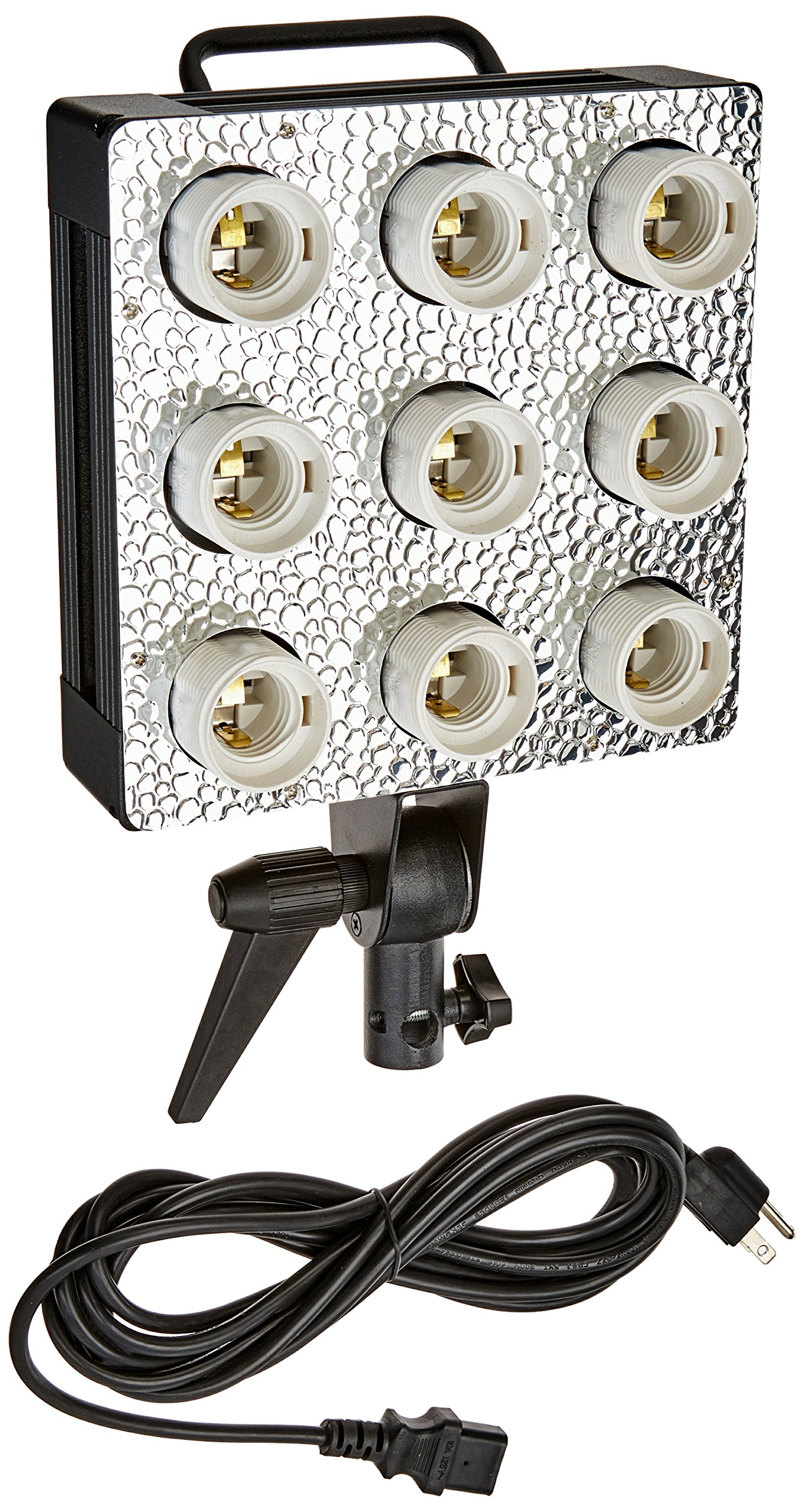 Fotodiox C-900 Cool Light Fixture - 9 Bulb Fixture w/Dedicated Softbox Mounting for Compact Fluorescent Bulbs