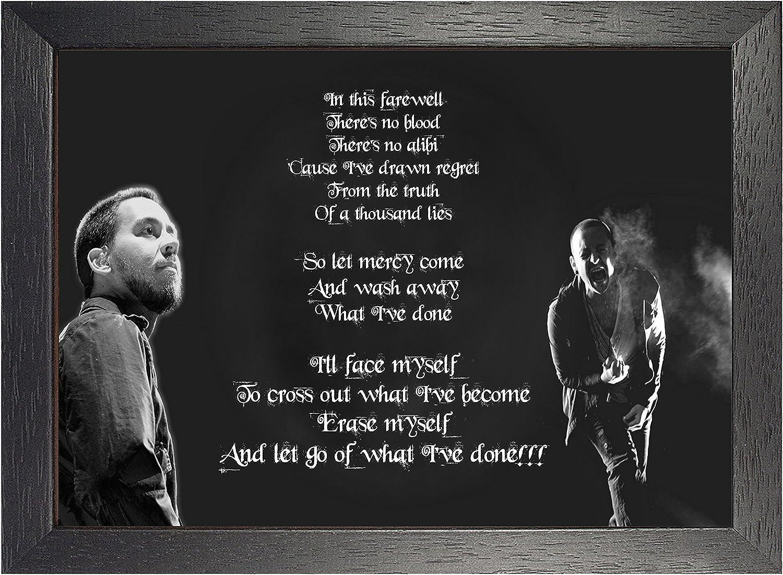 Chester Bennington Leave Out All The Rest Lyrics A4 260gsm Poster Print Nozztra Com