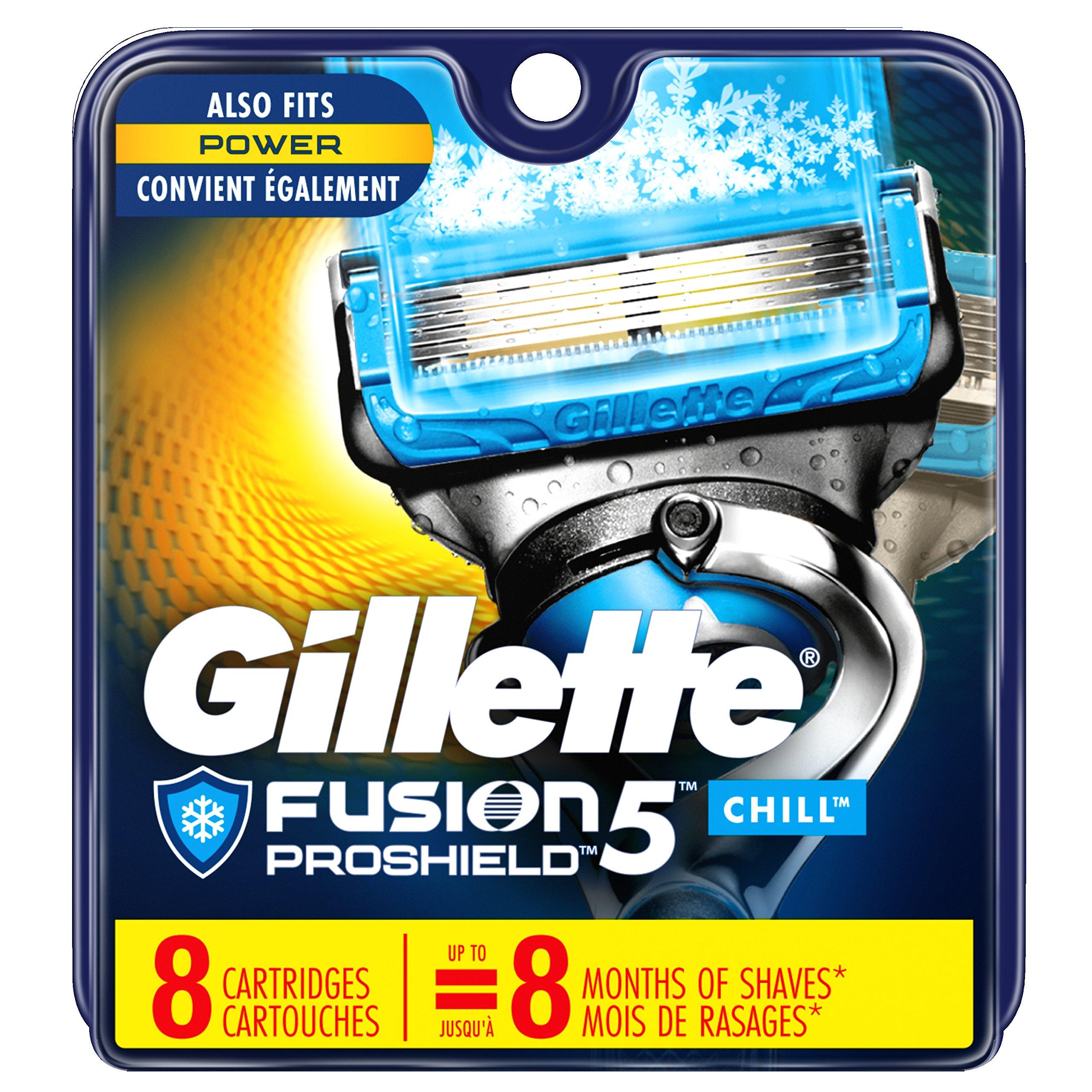 Gillette Fusion ProShield Chill Men's Razor Blade Refills, 8 Count, Mens Razors/Blades by Gillette (Image #1)