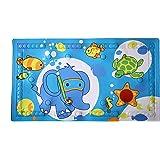 Badematte für Kinder von Casadamia | anti-rutsch Badewannenmatte für Babys | ideale Größe 40 x 70cm | PVC rutschfeste Badewannen-einlage mit Wärmeindikator für ideale Badetemperatur