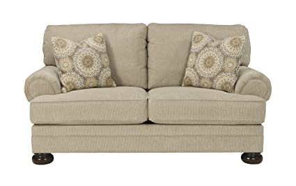 Benchcraft   Quarry Hill Traditional Upholstered Loveseat   Quartz