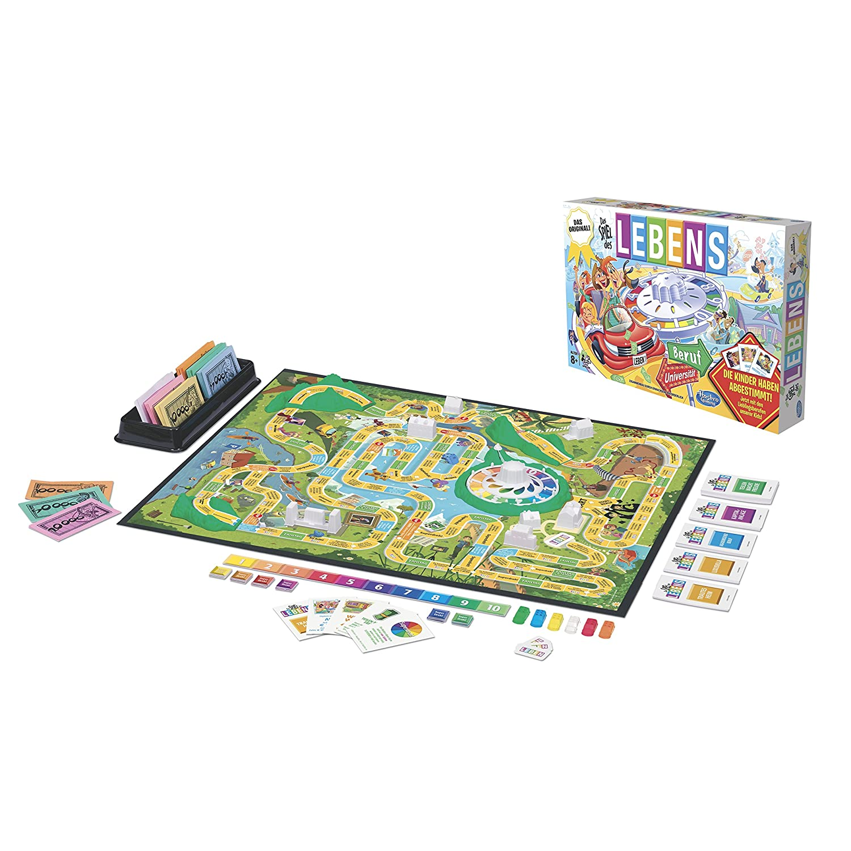 el estilo clásico Hasbro Spiel des Lebens Simulación económica - Juego de tablero tablero tablero (Simulación económica, 45 min)  venta al por mayor barato